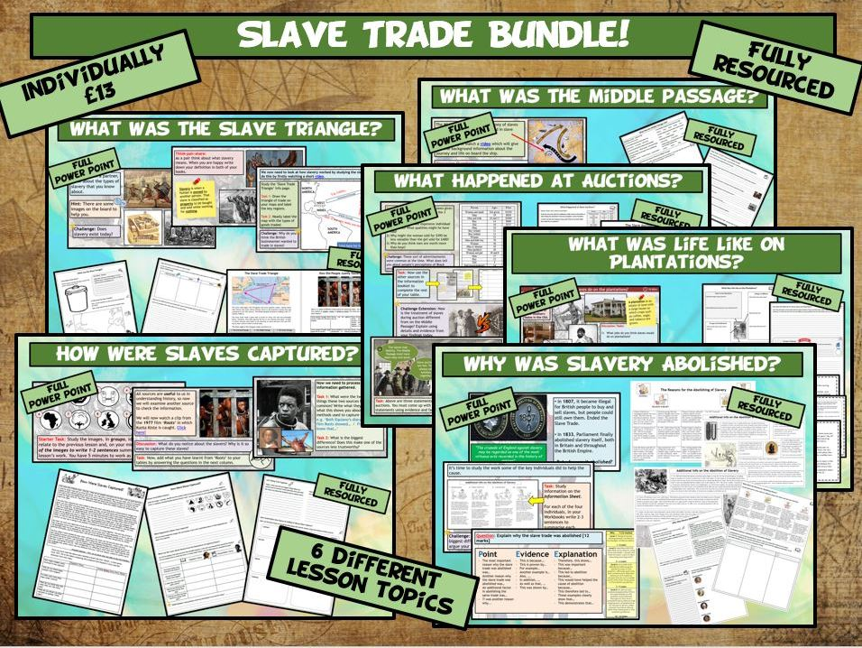 KS3 Slave Trade 6 Lesson Bundle