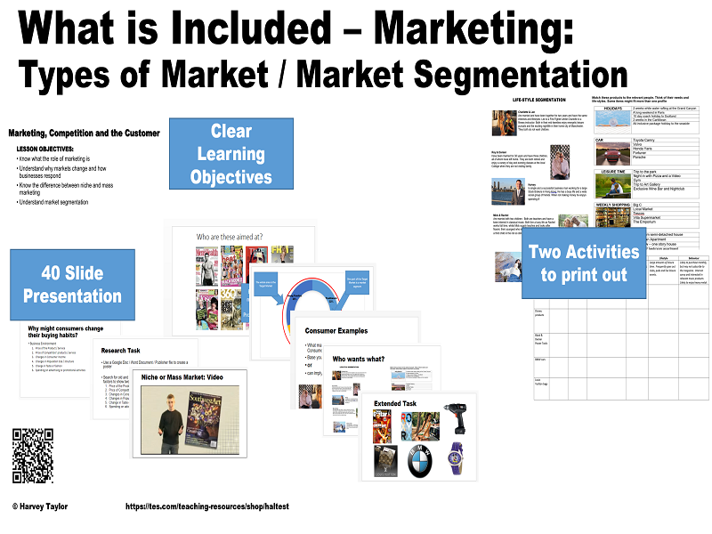Intro to Marketing - Types of Market / Market Segmentation - GCSE - Full Lesson
