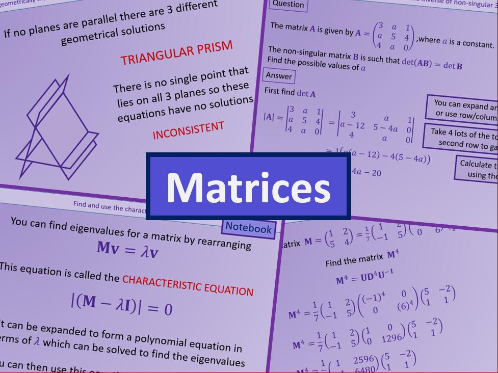 Matrices - Further maths A level A2