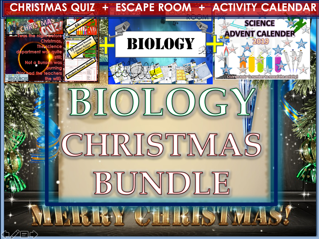 Biology Science Christmas activities