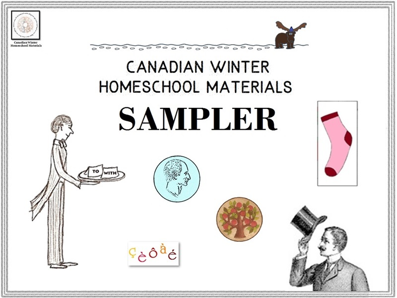 Canadian Winter Homeschool Materials Sampler