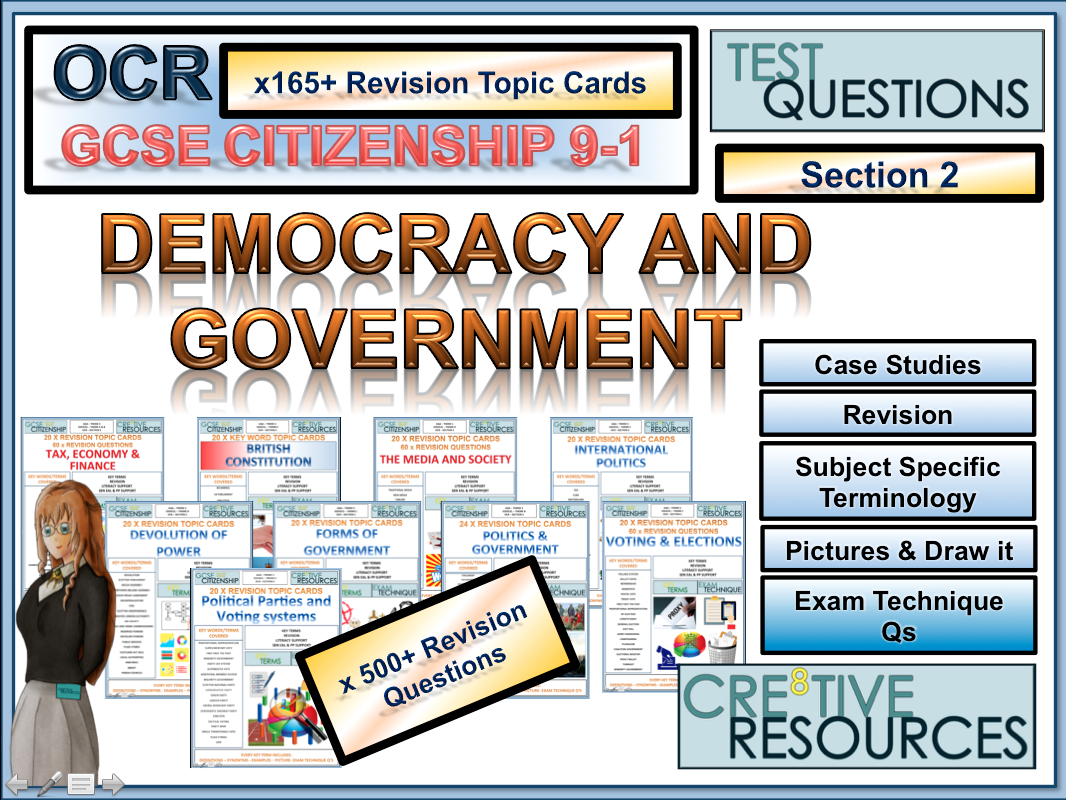 Citizenship GCSE [9-1] - 165+ Revision Topic Cards: OCR Section 2