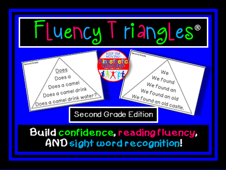 Reading Fluency - Fluency Triangles® Second Grade Sight Words