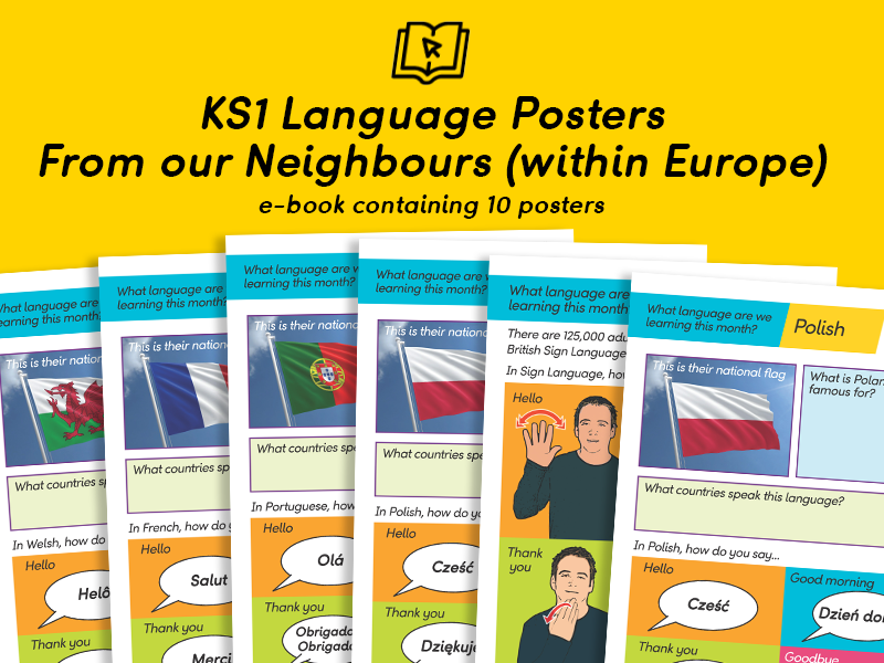KS1 European Language Posters eBook