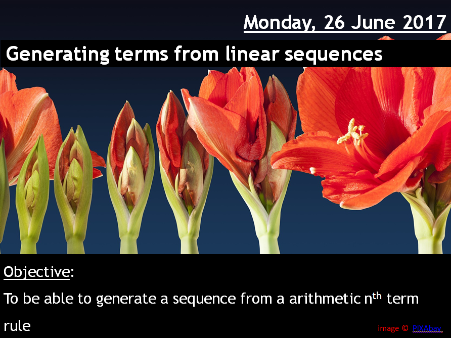 ProjectALesson : Generating Linear Sequences