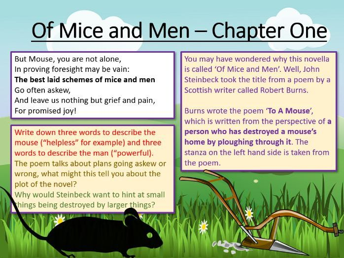 Of Mice and Men - Chapter One