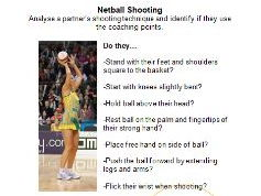 Netball Reciprocal Cards - Shooting, Passing & Getting Free