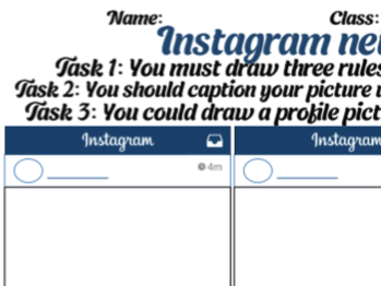 Instagram rules for sport and PE