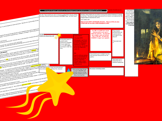GCSE Revision Whole class template & sample answer notes Lady Macbeth essay question