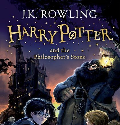 Harry Potter and the Philosopher's Stone word cloud- Key words- lightning shape