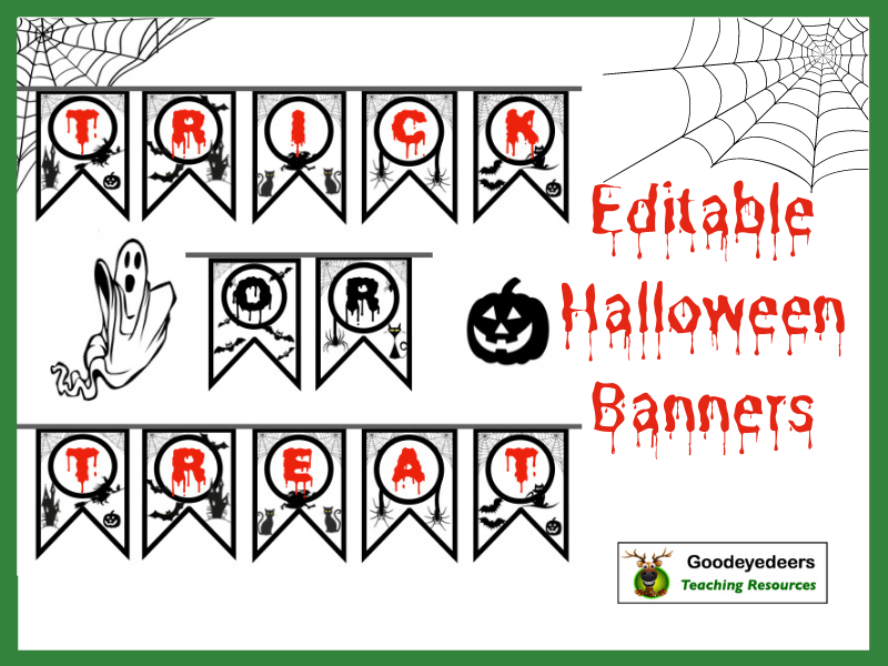 Editable Halloween Banners