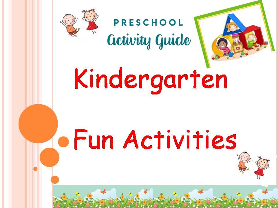 Preschoolers Fun Activities
