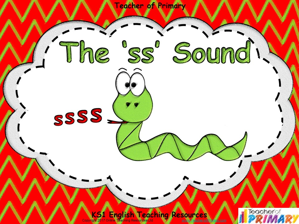 The 'ss' Sound - Animated PowerPoint presentation and worksheets