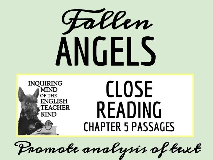 Fallen Angels Close Reading Worksheet - Chapter 5