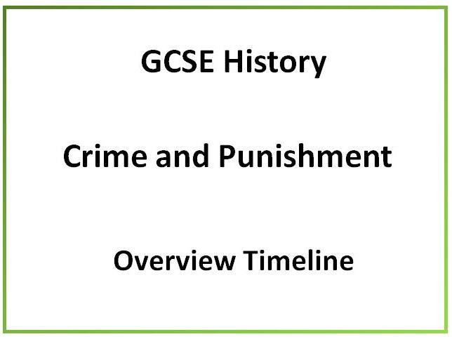 GCSE History Crime and Punishment overview timeline