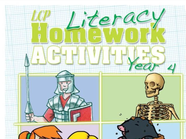 Year 4 English/ Literacy Home Learning Pack (48 sheets) including Parental Guidance