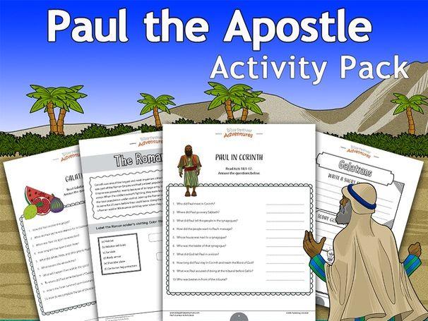 Paul the Apostle Activity Pack FREEBIE