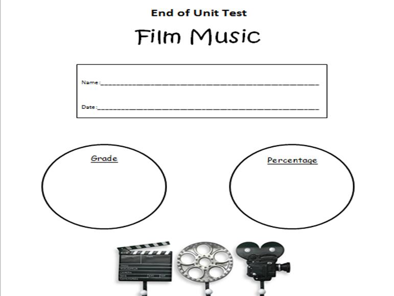 Film Music, End of Unit Test - OCR GCSE MUSIC