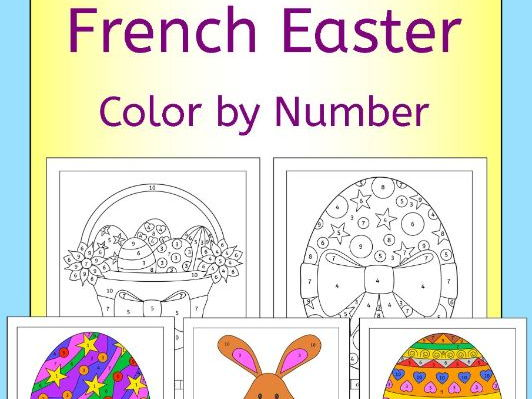 French Easter Color by Number