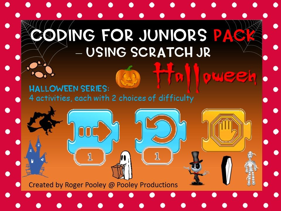 Halloween Themed Coding for Juniors PACK – Using Scratch Jr