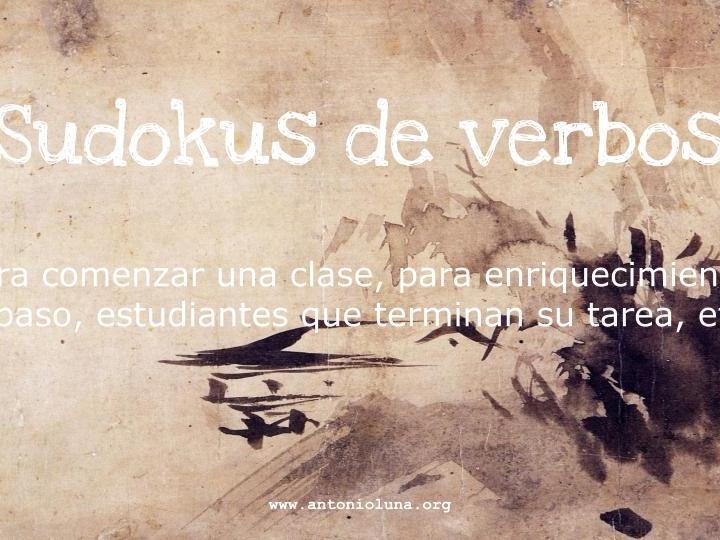 Sudoku de verbos (rutina diaria / presente de indicativo)
