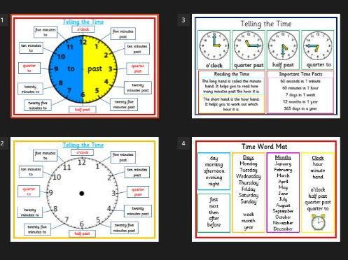 Time resources - Telling the Time, clock, time facts, measuring time, blank worksheet -KS1/KS2