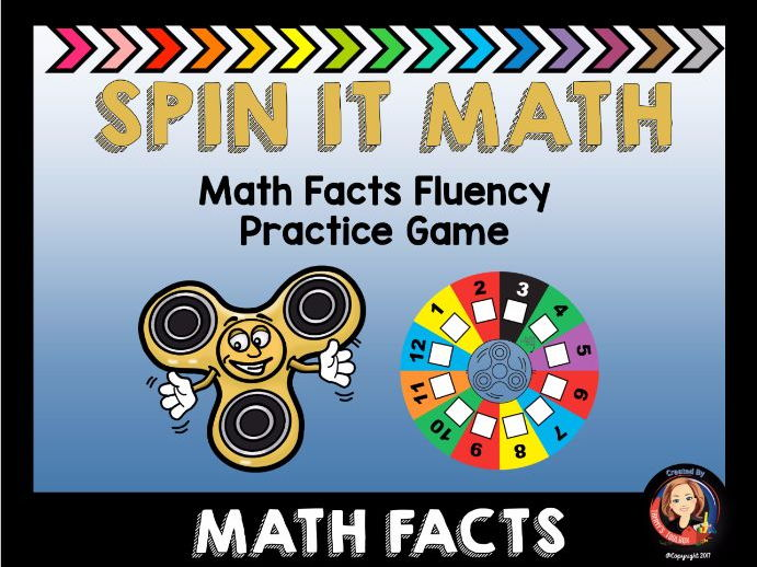 Spin It Math Facts Fluency Practice Game
