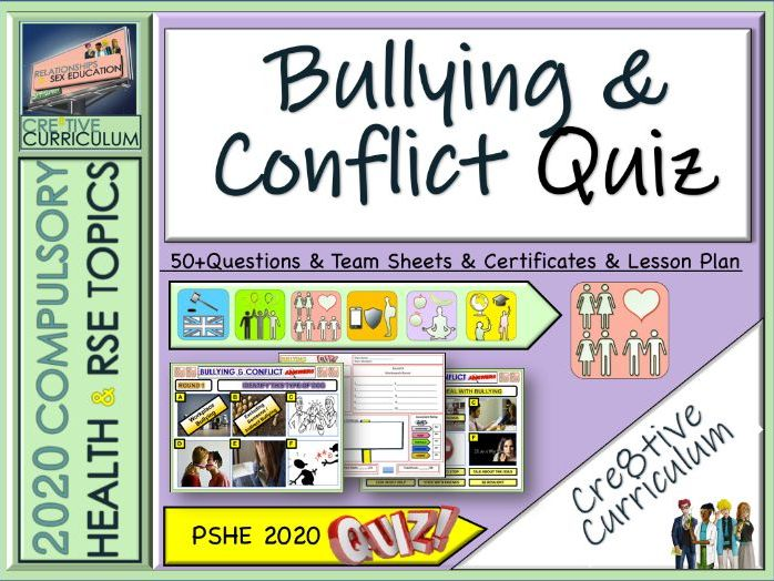 Bullying + Conflict End of Year Quiz