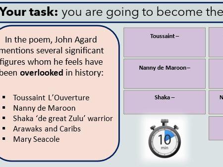 Checking Out Me History - John Agard