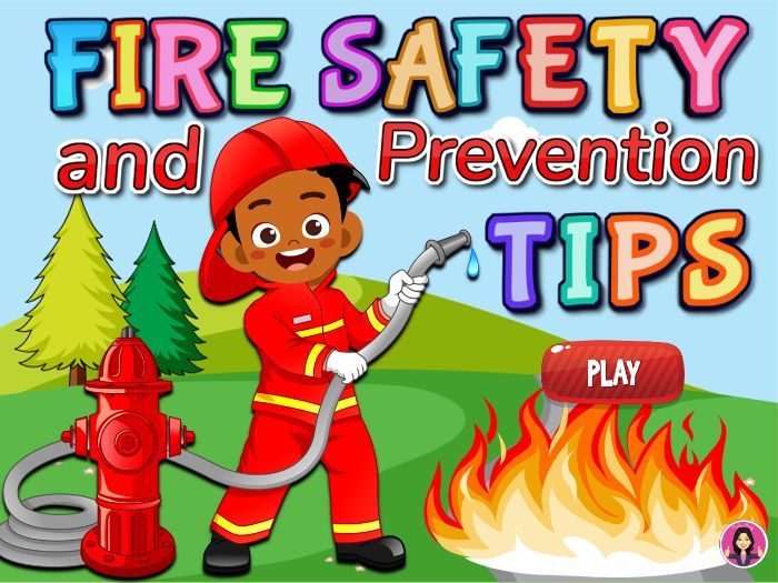 Fire Safety and Prevention Tips for Kids Powerpoint