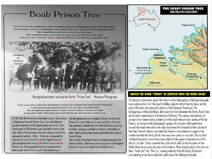 THE BOAB PRISON TREES OF THE KIMBERLEY -WESTERN AUSTRALIA - SEPARATING FACT FROM MYTH