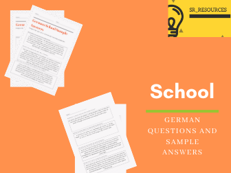 German School Questions with Sample Answers