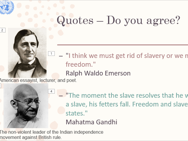 International Day for the Abolition of Slavery Assembly/Lesson Pack
