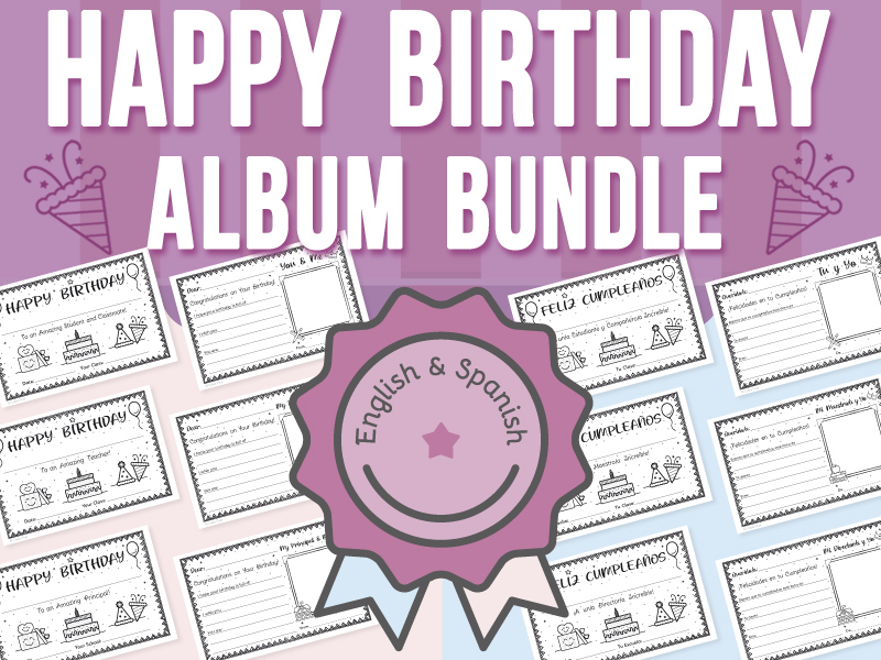 Happy Birthday Album - Teachers, Students and Principals BUNDLE