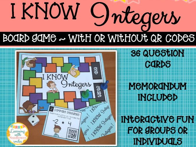 Integers Board Game