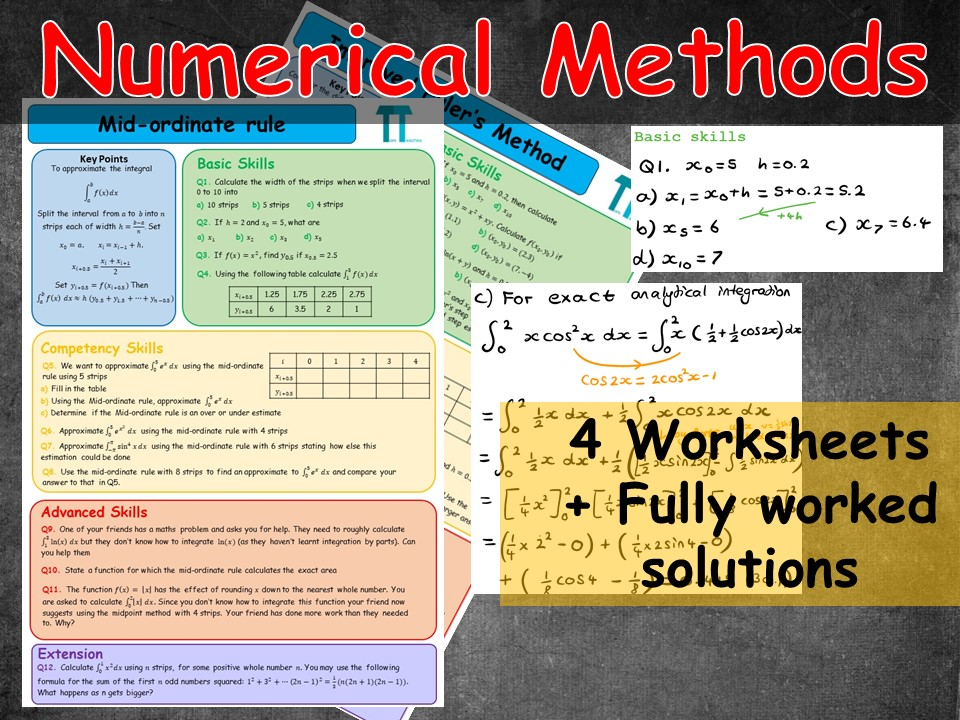 Numerical Methods for Further Maths A-Level