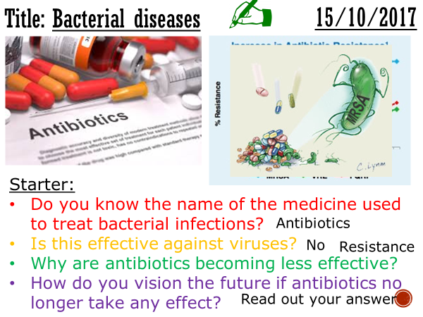 Bacterial infections - complete lesson (KS4)