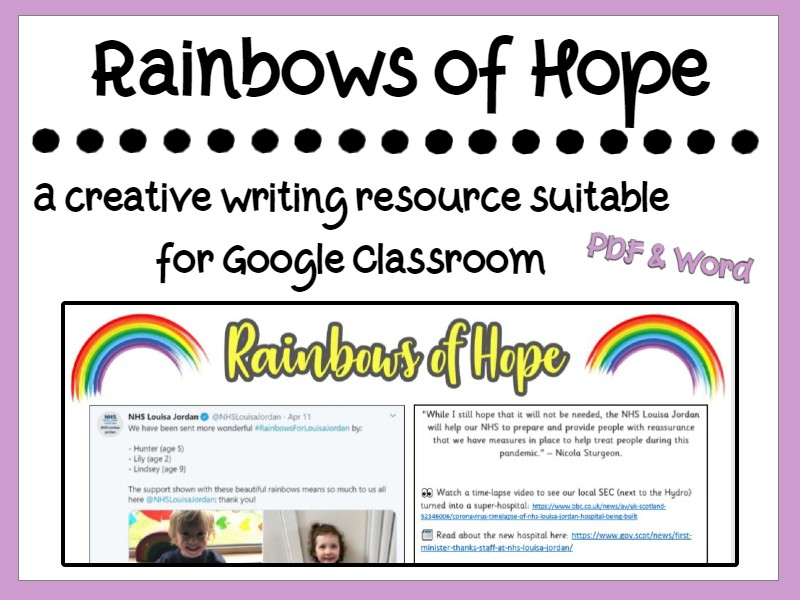Rainbows of Hope: Writing Home Learning