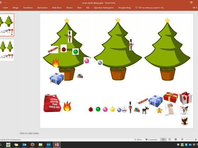 Christmas Trees Revision Game Quiz Scoreboard