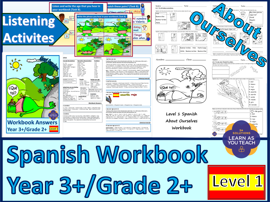 PRIMARY SPANISH WORKBOOK - ABOUT OURSELVES