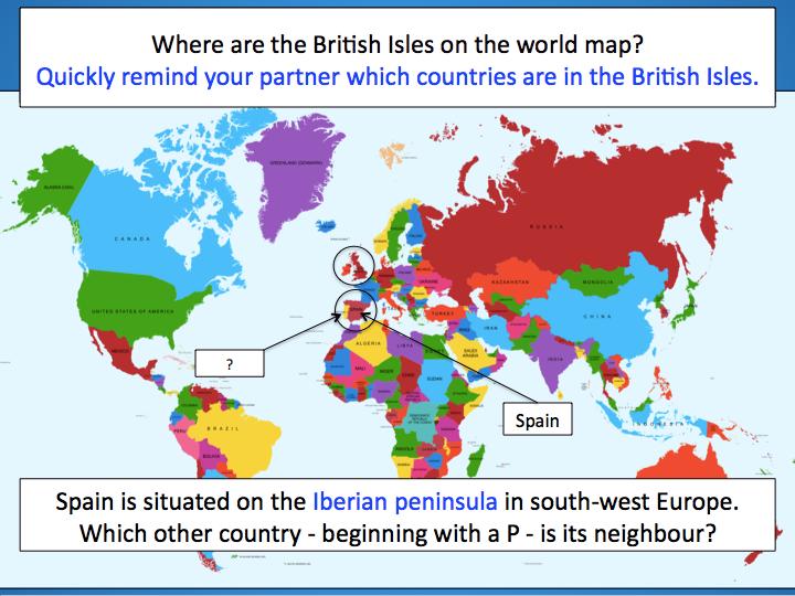 Spain Fact File - Geography of Spain - KS2 by eddiebray | Teaching ...
