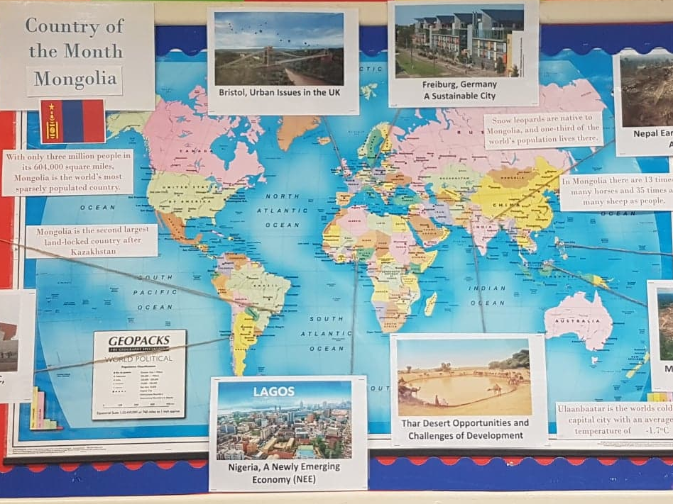 Geography Classroom Displays