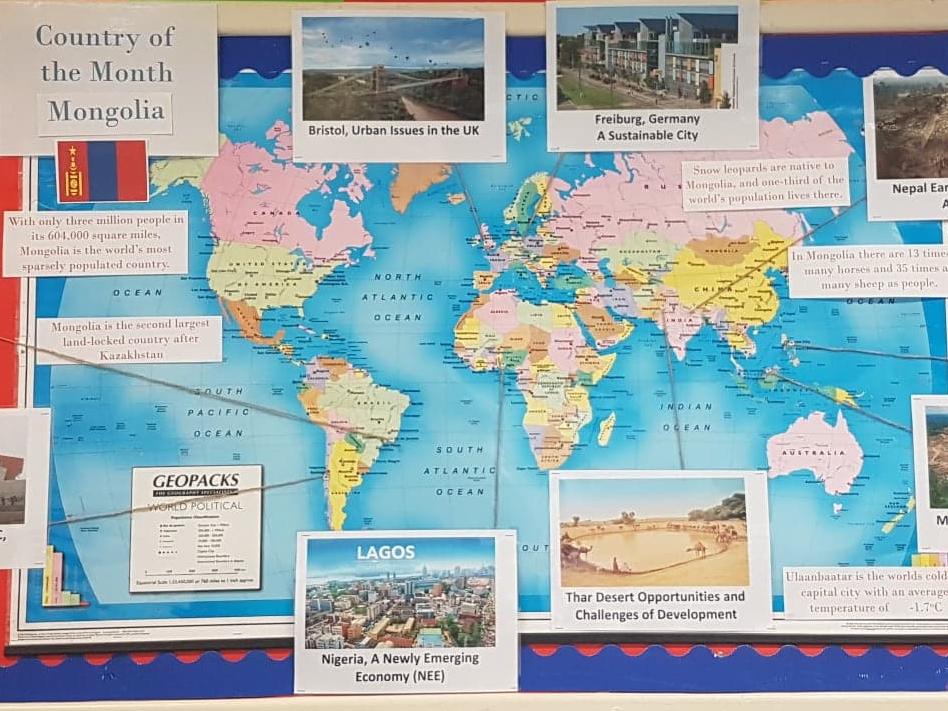 Geography Classroom Displays