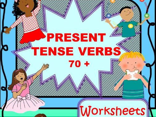 Pesent Tense Verbs 70+ ( Present Simple and Present Continuous)