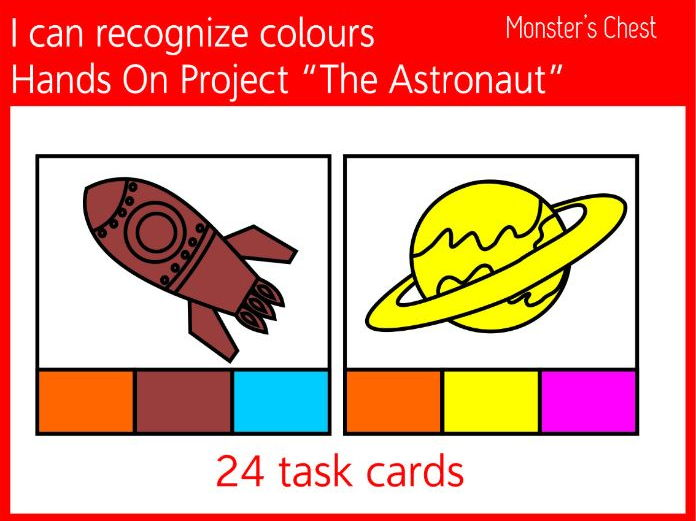 Task cards, I can recognize colours