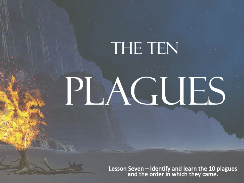 MOSES - Ten plagues of Egypt - Lesson 7 - 60+Mins