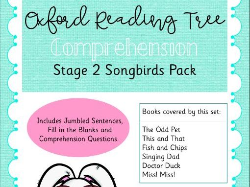 ORT - Oxford Reading Tree Stage 2 Songbirds Comprehension Pack