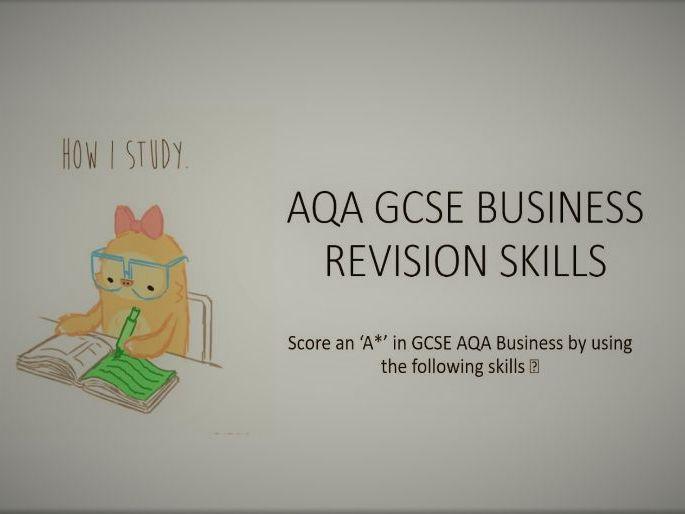GCSE AQA EXAM SKILLS DEVELOPMENT GUIDE