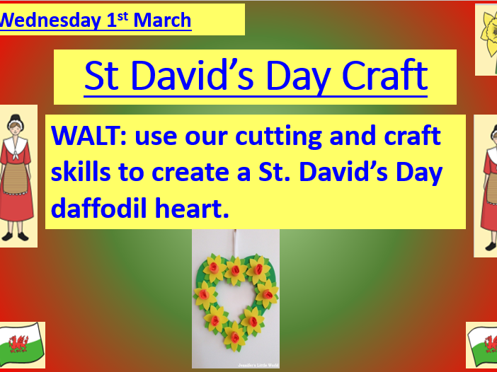 St David's Day Craft Lesson