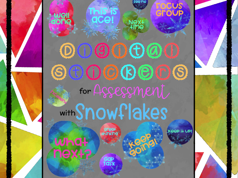 Digital Stickers for Assessment with Snowflakes